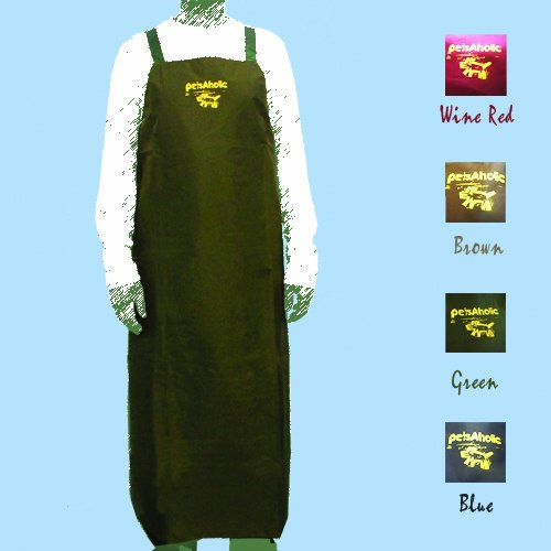 Water resistant H back Grooming Apron Green product image