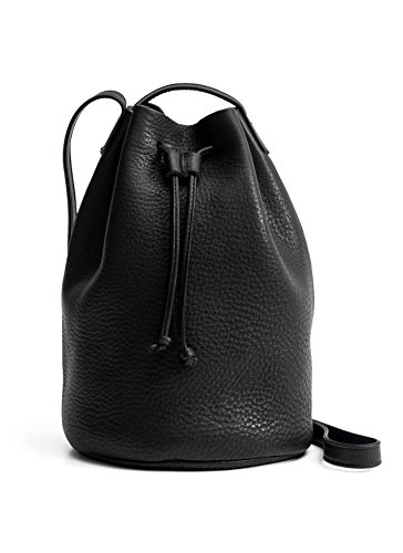 Leather Drawstring Purse - BAGGU Drawstring Purse, Black, One Size