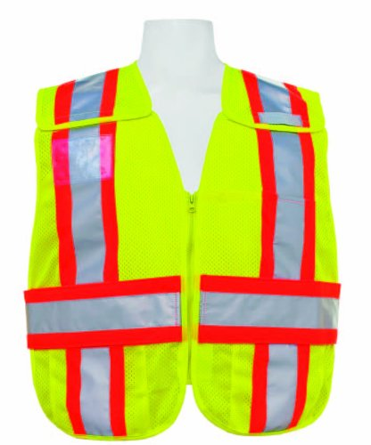 (3A Safety - 5-Point Breakaway Mesh Safety Vest - Lime (Medium - X-Large))
