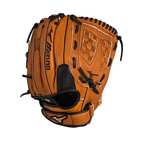 "Mizuno Prospect Baseball Glove, Peanut, Youth/Kids, 11.5"", Worn on left hand"