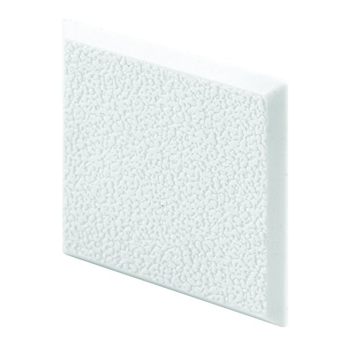 Prime-Line Products MP10866 Wall Protector, 2 in. x 2 in. Squares, Rigid Vinyl, White, Textured, Adhesive-Backed, Paintable, Pack of 5, ()
