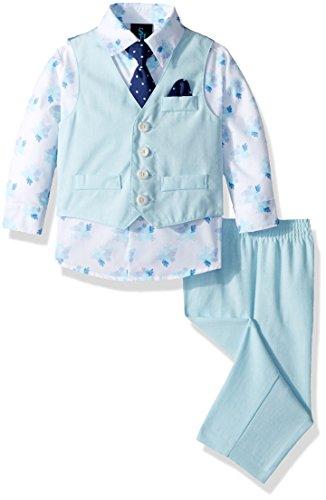 Steve Harvey Baby Boys Four Piece Vest Set, Curacao Linen, 24 Months]()