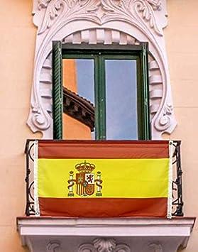 ABBE Global Bandera de España para balcón 100x150 cm con Ojales. Resistente en el Exterior.: Amazon.es: Jardín