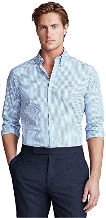 Ralph Lauren Camisa Rayas Azul para Hombre: Amazon.es: Ropa y accesorios