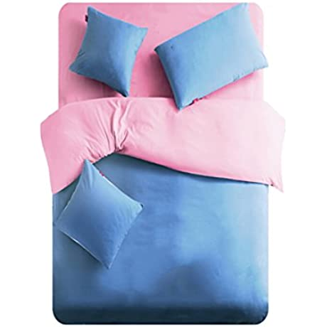 Linta Pink Microfiber Bedding Set King