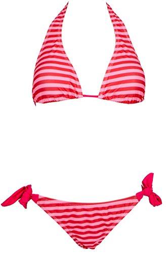 AvaMia Traje de Bano Dos Piezas Bikini Set de Impresion Swimsuit mujer Pink