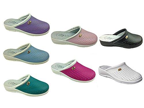 Foster Footwear - Sandalias con cuña mujer morado