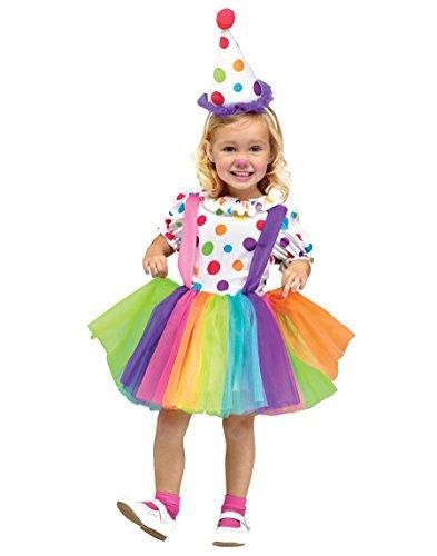 Toddler Clown Costume Girl (Fun World Costumes Baby Girl's Big Top Fun Toddler Costume, White,)