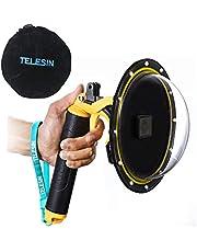 TELESIN Dome Port Diving Accessoires Waterdichte behuizing Lensdeksel Hoes met Onderwater Handvat Floaty + Trigger + Beschermhoes Tas + Anti-Fog Inzetstukken voor (Dome voor Hero 2018/7/6/5)