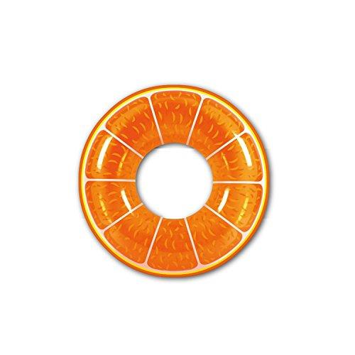 Pool Central Fruit Inflatable Swimming Pool Inner Tube Ring Float, 42, Orange