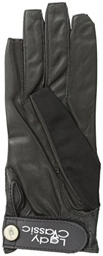 Lady Classic Solar Nail and Ring Glove, Black, Large, Right Hand