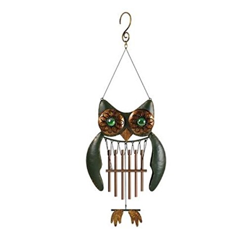 Owl Wind Chimes (Garden Treasures 19.25-in Multi-Color Metal Wind)