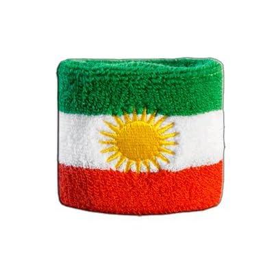 Digni® Poignet éponge avec drapeau Kurdistan