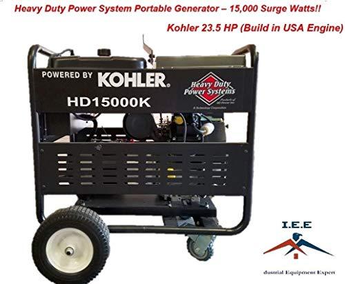 Heavy Duty Power System 15,000 Watt Electric Start Portable Generator Kohler 23.5 HP Made in USA Engine Uncategorized