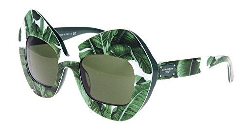 DOLCE & GABBANA Botanical Garden Banana Leaf Green Sunglasses - Mirrored And Gabbana Dolce Sunglasses