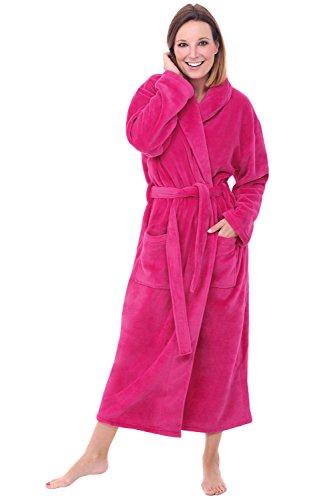 Alexander Del Rossa Womens Fleece Robe, Long Bathrobe, 3X...