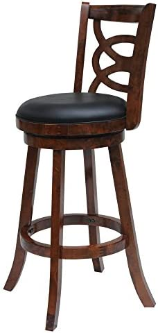 Boraam Siena 24 Swivel Counter Stool in Walnut Finish
