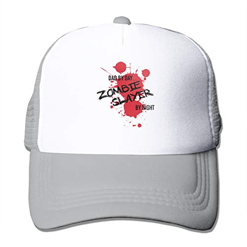 Unisex Dad by Day Zombie Slayer by Night Trucker Cap Suitable for Indoor or Outdoor Activities -