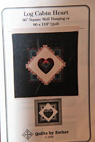 Log Cabin Heart Quilt Pattern - 36
