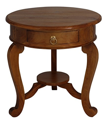 NES Furniture Fine Handcrafted Solid Mahogany Wood Queen Anne End Table - 24 inches Queen Anne Hall Table