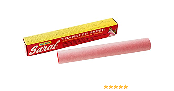 Roll Saral Roll 12in x 12ft Red 305mm x 3.35 meters