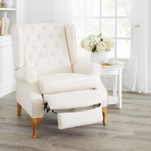 BrylaneHome Queen Anne Style Tufted Wingback Recliner - ()