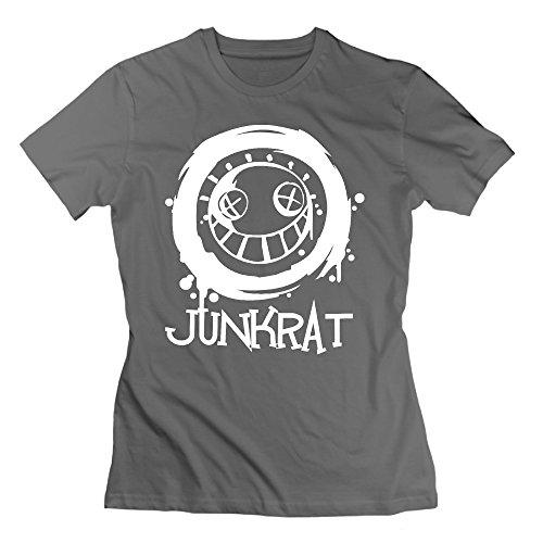 Women's Tshirts Custom Ow Junkrat L DeepHeather]()