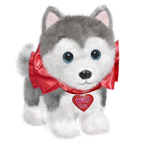 "First & Main Dog Plush Valentine's Day Wuffles, Husky Stuffed Animal, 7"""