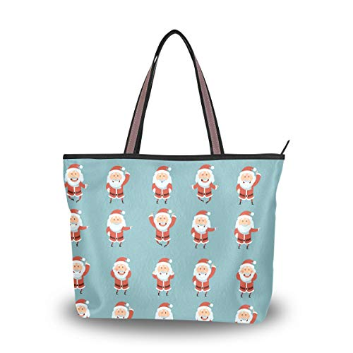 Like To Jump Santa Stylish Ladies Tote Bag High-grade Polyester Fabric Travel Essential Everyday Tote