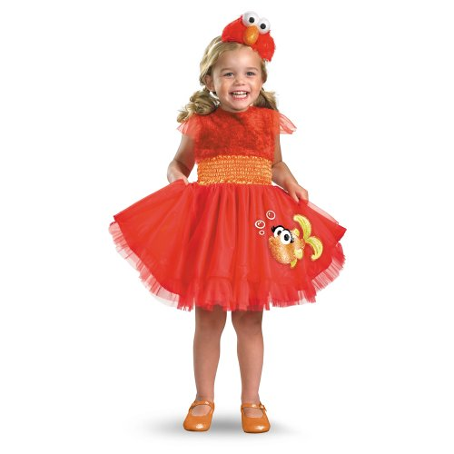 Toddler Girl Fish Costume (Frilly Elmo Costume - Small (2T))
