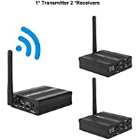 TP-WIRELESS 2.4GHz Digital Wireless HDCD Audio Adapter Music Sound Transmitter and Receiver (1 Transmitters and 2 Receivers)