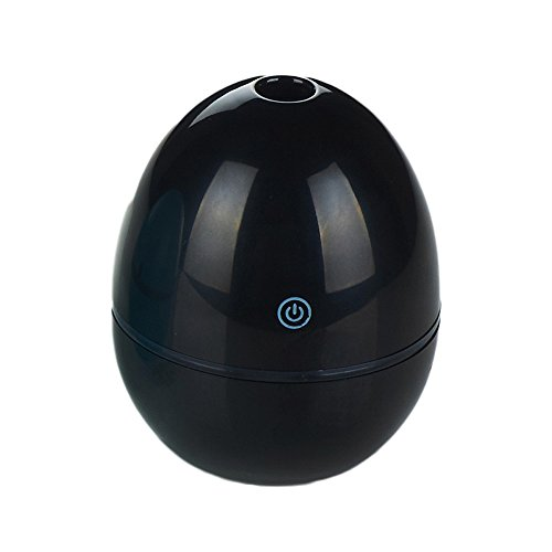 FarJing 50ML Egg Shaped Ultrasonic Humidifier USB Portable Air Humidifier Atomizer For Office(Black)