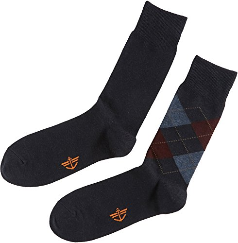 Navy 2 Pack Crew Sock (Dockers Men's 2 Pack Argyle Crew, Navy Assorted, Sock Size:10-13/Shoe Size: 6-12)