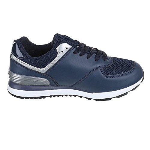 Ital-Design - Zapatillas de Material Sintético para mujer Azul - azul