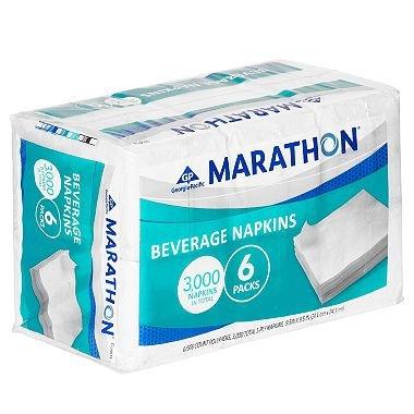 Marathon - Beverage Napkin, 1/4 Fold - 3,000 Napkins -