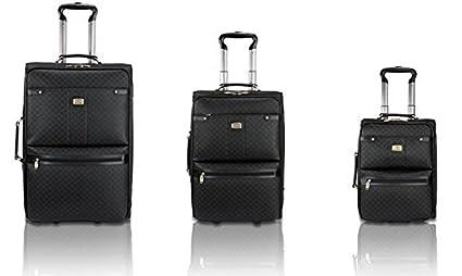 503953616a37 Amazon.com: New Rioni Black Signature Spinner Luggage Set - 3 piece ...