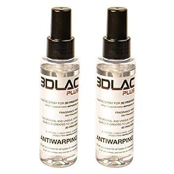 MadridGadgetStore® Pack 2 Botes 3DLAC Plus Bote Spray Fijador Adhesivo para Impresora Impresión 3D Doble Adherencia Antiwarping Sin Fragancia ...