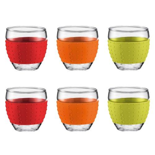 d Color 2-1/2-Ounce Espresso/Shot Glasses, Get 6 Promotional Set ()