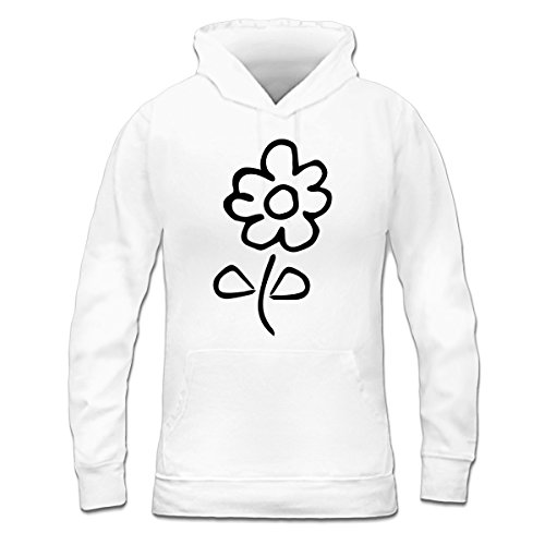 Sudadera con capucha de mujer Flower Comic by Shirtcity Blanco