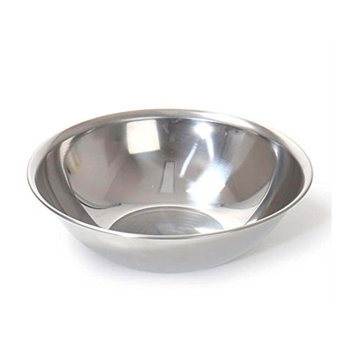 Wide Stainless Steel Kitchen Salad Mixing Bowl for Home & Restaurant Serving Cooking Baking Dishwasher, Food Safe (11.0 inch x 5.5 inch x 3.3 inch)