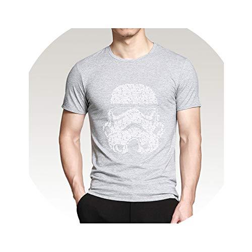 Men T Shirt 2019 Summer Fashion Men's Casual T Shirts Masks Words Hip Hop Tops Tee,Gray,XL