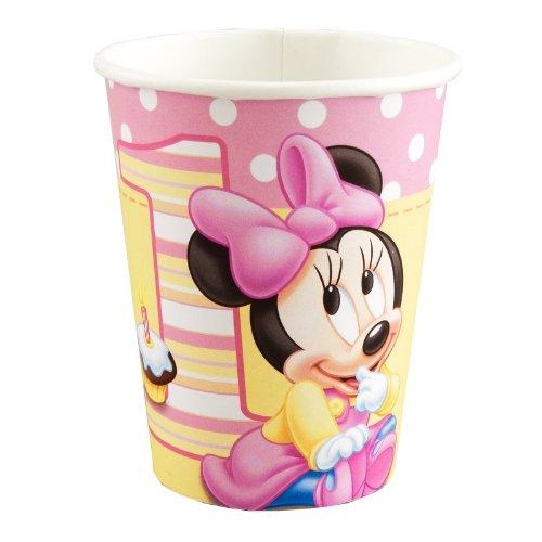 Hallmark Minnie's 1st Birthday 9 oz Cups – 8 ct, Health Care Stuffs