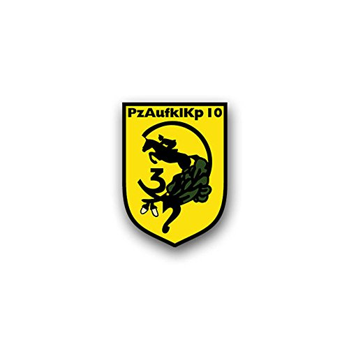 Reconnaissance Tank (PzAufklKp 10 tank reconnaissance company Bundeswehr military crest Bundeswehr military badge emblem for Audi A3 BMW VW Golf GTI Mercedes (5x7cm) - Sticker Wall Decoration)