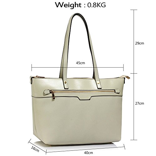 Office Design Cream Shoulder Tote 1 Leather Faux Handbags Large Bags Extra Laptop Ladies Womens RqBAwwv