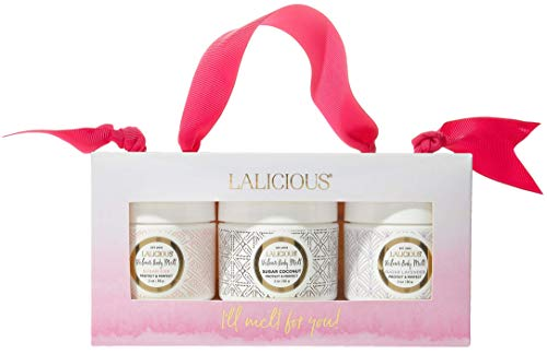 LALICIOUS Velour Body Melt Gift Set - 3-Piece Gel-to-Oil Moisturizer Kit with Macadamia Nut Seed Oil (3 Piece Kit) ()
