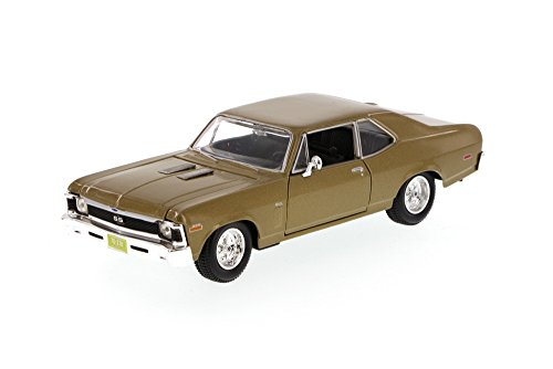 1970 Chevy Nova SS, Gold - Maisto 34262 - 1/24 Scale Diecast Model Toy Car (Brand New, but NO BOX)