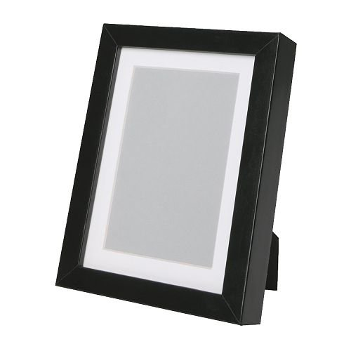 RIBBA Frame, Black,18x24 cm,Mount Enhances the Picture and Makes ...