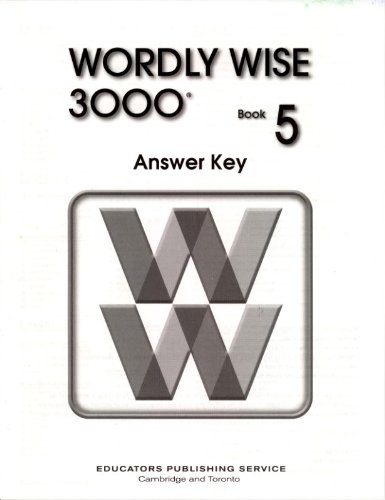 Wordly Wise 3000 Grade 5 Answer Key - 2nd Edition