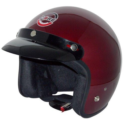 Core Vintage Open Face Helmet (Wine, Large)