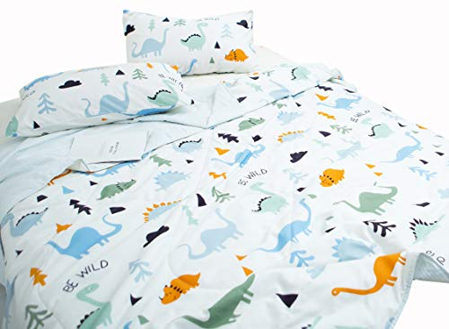 J-pinno Dinosaur Quilt Comforter Throw Blanket Full for Kids Boys Bedding Coverlet Sofa (Full 78